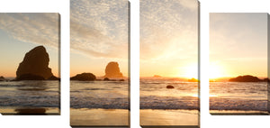Large Canvas Wall Art Set of 4 by By the Shore,Sets of 4,Sea and Shore,orange art