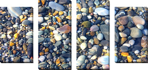 Large Canvas Wall Art Set of 4 by Water Stones 5,Sets of 4,Sea and Shore,blue art
