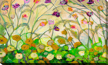 "Giclee Stretched Canvas Wall Art by Jennifer Lommers ""Mardi Gras"", All Canavs Art,Floral,All Colors,All Shapes,All Artists,green art,Landscape Shape,Jennifer Lommers"