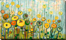 "Giclee Stretched Canvas Wall Art by Jennifer Lommers ""Martini Poppies"", All Canavs Art,Floral,All Colors,All Shapes,All Artists,multi-color art,Landscape Shape,Jennifer Lommers"