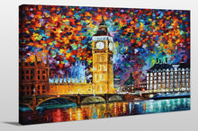 "Giclee Stretched Canvas Wall Art by Leonid Afremov ""Big Ben, London"", All Canvas Art,All Subjects,Cityscapes,All Colors,All Shapes,All Artists,multi-color art,Landscape Shape,Leonid Afremov"