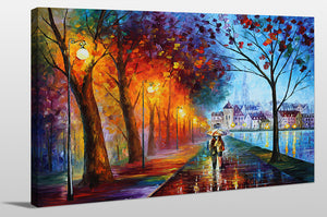 "Giclee Stretched Canvas Wall Art by Leonid Afremov ""City By The Lake"", All Canvas Art,All Subjects,Landscapes,All Colors,All Shapes,All Artists,multi-color art,Landscape Shape,Leonid Afremov"