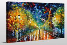"Giclee Stretched Canvas Wall Art by Leonid Afremov ""Gold Winter"", All Canvas Art,All Subjects,Landscapes,All Colors,All Shapes,All Artists,multi-color art,Landscape Shape,Leonid Afremov"