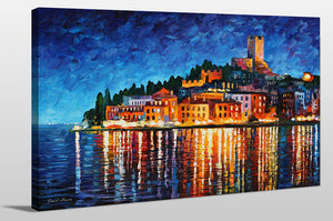 "Giclee Stretched Canvas Wall Art by Leonid Afremov ""Italy, Verona"", All Canvas Art,All Subjects,Coastal,Sea and Shore,All Colors,All Shapes,All Artists,multi-color art,Landscape Shape,Leonid Afremov"