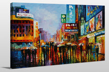 "Giclee Stretched Canvas Wall Art by Leonid Afremov ""Lights Of Downtown"", All Canvas Art,All Subjects,Cityscapes,All Colors,All Shapes,All Artists,multi-color art,Landscape Shape,Leonid Afremov"