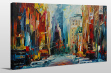 "Giclee Stretched Canvas Wall Art by Leonid Afremov ""New York, Early Morning"", All Canvas Art,All Subjects,Cityscapes,All Colors,All Shapes,All Artists,multi-color art,Landscape Shape,Leonid Afremov"