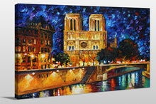 "Giclee Stretched Canvas Wall Art by Leonid Afremov ""Notre Dame De Paris"", All Canvas Art,All Subjects,Cityscapes,All Colors,All Shapes,All Artists,multi-color art,Landscape Shape,Leonid Afremov"