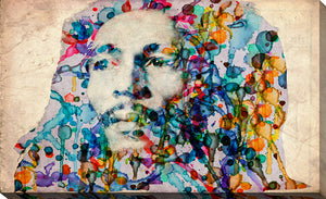 "Giclee Stretched Canvas Wall Art by Bekim Mehovic ""Marley II"", All Canvas Art,All Subjects,Celebrities,All Colors,All Shapes,All Artists,multi-color art,Landscape Shape,Bekim Mehovic"
