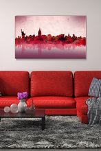Wall Art  by Bekim Mehovic  New York Skyline Red