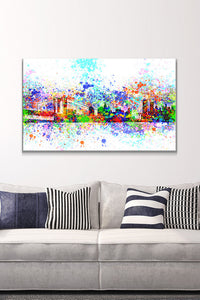 Wall Art  by Bekim Mehovic  New York Skyline Splats II