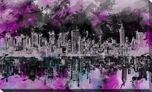 "Wall Art by Bekim Mehovic ""Nyc Skyline Brush Strokes"", All Canvas Art,All Subjects,Cityscapes,All Colors,All Shapes,All Artists,purple art,Landscape Shape,Bekim Mehovic"