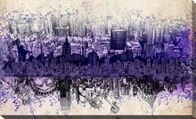 "Wall Art by Bekim Mehovic ""Nyc Tribute Skyline II"", All Canvas Art,All Subjects,Cityscapes,All Colors,All Shapes,All Artists,purple art,Landscape Shape,Bekim Mehovic"