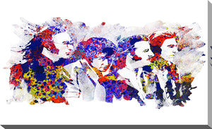 "Giclee Stretched Canvas Wall Art by Bekim Mehovic ""The Beatles IV"", All Canvas Art,All Subjects,Celebrities,All Colors,All Shapes,All Artists,white art,Landscape Shape,Bekim Mehovic"