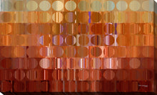 "Giclee Stretched Canvas Wall Art by Mark Lawrence ""Circles And Squares # 16"", All Canvas Art,All Subjects,Abstract,All Colors,All Shapes,All Artists,orange art,Landscape Shape,Mark Lawrence"
