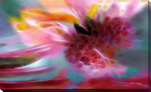 "Giclee Stretched Canvas Wall Art by Mark Lawrence ""The Fruit of The Spirit. Galatians 5:22"", All Canvas Art,All Subjects,Abstract,All Colors,All Shapes,All Artists,pink art,Landscape Shape,Mark Lawrence"