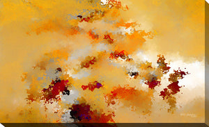 "Giclee Stretched Canvas Wall Art by Mark Lawrence ""Perfect Peace. Isaiah 26:3 "", All Canvas Art,All Subjects,Abstract,All Colors,All Shapes,All Artists,yellow art,Landscape Shape,Mark Lawrence"