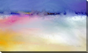 "Giclee Stretched Canvas Wall Art by Mark Lawrence ""Be Strong and Very Courageous"", All Canvas Art,All Subjects,Abstract,All Colors,All Shapes,All Artists,purple art,Landscape Shape,Mark Lawrence"