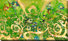 "Giclee Stretched Canvas Wall Art by Mark Lawrence ""Love the Lord your God.  Matthew 22:37"", All Canvas Art,All Subjects,Abstract,All Colors,All Shapes,All Artists,green art,Landscape Shape,Mark Lawrence"