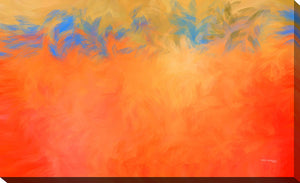 "Giclee Stretched Canvas Wall Art by Mark Lawrence ""My Despair Has Turned to Joy"", All Canvas Art,All Subjects,Abstract,All Colors,All Shapes,All Artists,orange art,Landscape Shape,Mark Lawrence"