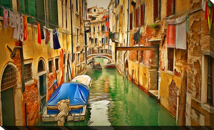 "Wall Art by Yuri Malkov ""Venice Canals Viii"", All Canvas Art,All Subjects,Cityscapes,All Colors,All Shapes,All Artists,multi-color art,Landscape Shape,Yuri Malkov"