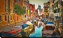 "Wall Art by Yuri Malkov ""Venice Canals Xx"", All Canvas Art,All Subjects,Cityscapes,All Colors,All Shapes,All Artists,multi-color art,Landscape Shape,Yuri Malkov"