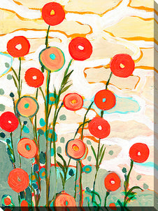 "Wall Art by Jennifer Lommers ""Red Poppies Ii"", All Canavs Art,Floral,All Colors,All Shapes,All Artists,red art,Portrait Shape,Jennifer Lommers"