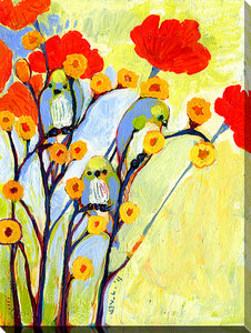 "Wall Art by Jennifer Lommers ""Under The Poppies"", All Canavs Art,Floral,All Colors,All Shapes,All Artists,yellow art,Portrait Shape,Jennifer Lommers"