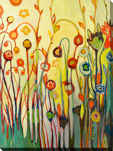 "Wall Art by Jennifer Lommers ""Unfolded"", All Canavs Art,Floral,All Colors,All Shapes,All Artists,yellow art,Portrait Shape,Jennifer Lommers"