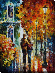 "Wall Art by Leonid Afremov ""After The Date"", All Canvas Art,All Subjects,Landscapes,All Colors,All Shapes,All Artists,multi-color art,Portrait Shape,Leonid Afremov"