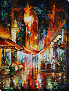 "Wall Art by Leonid Afremov ""Brussels - Before The Night Starts"", All Canvas Art,All Subjects,Cityscapes,All Colors,All Shapes,All Artists,multi-color art,Portrait Shape,Leonid Afremov"