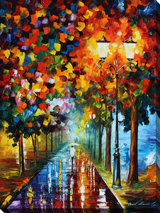 "Wall Art by Leonid Afremov ""Burst Of Colors"", All Canvas Art,All Subjects,Landscapes,All Colors,All Shapes,All Artists,multi-color art,Portrait Shape,Leonid Afremov"