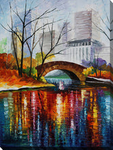 "Wall Art by Leonid Afremov ""Central Park - New York"", All Canvas Art,All Subjects,Cityscapes,All Colors,All Shapes,All Artists,multi-color art,Portrait Shape,Leonid Afremov"