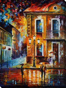"Wall Art by Leonid Afremov ""Charming Night"", All Canvas Art,All Subjects,Cityscapes,All Colors,All Shapes,All Artists,multi-color art,Portrait Shape,Leonid Afremov"
