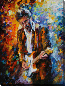 "Wall Art by Leonid Afremov ""Eric Clapton"", All Canvas Art,All Subjects,Celebrities,All Colors,All Shapes,All Artists,multi-color art,Portrait Shape,Leonid Afremov"