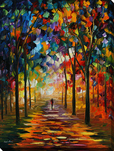 "Wall Art by Leonid Afremov ""Forest Path"", All Canvas Art,All Subjects,Landscapes,All Colors,All Shapes,All Artists,multi-color art,Portrait Shape,Leonid Afremov"