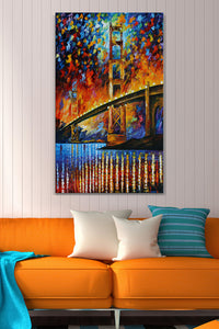 Wall Art  by Leonid Afremov  Golden Gate Bridge