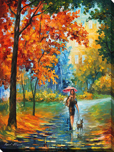 "Wall Art by Leonid Afremov ""Intriguing Autumn"", All Canvas Art,All Subjects,Landscapes,All Colors,All Shapes,All Artists,multi-color art,Portrait Shape,Leonid Afremov"