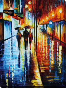 "Wall Art by Leonid Afremov ""Invitation 2"", All Canvas Art,All Subjects,Cityscapes,All Colors,All Shapes,All Artists,multi-color art,Portrait Shape,Leonid Afremov"