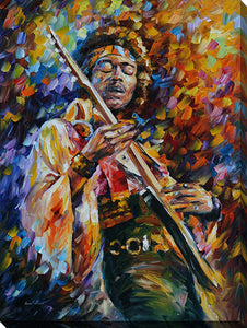 "Wall Art by Leonid Afremov ""Jimi Hendrix"", All Canvas Art,All Subjects,Celebrities,All Colors,All Shapes,All Artists,multi-color art,Portrait Shape,Leonid Afremov"
