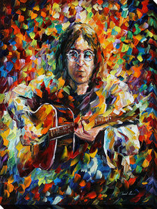"Wall Art by Leonid Afremov ""John Lennon"", All Canvas Art,All Subjects,Celebrities,All Colors,All Shapes,All Artists,multi-color art,Portrait Shape,Leonid Afremov"