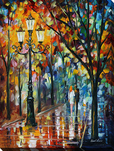 "Wall Art by Leonid Afremov ""Kaleidoscope Of Love"", All Canvas Art,All Subjects,Landscapes,All Colors,All Shapes,All Artists,multi-color art,Portrait Shape,Leonid Afremov"