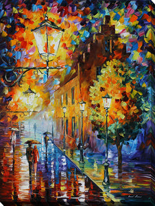 "Wall Art by Leonid Afremov ""Lights In The Night"", All Canvas Art,All Subjects,Landscapes,All Colors,All Shapes,All Artists,multi-color art,Portrait Shape,Leonid Afremov"