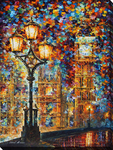 "Wall Art by Leonid Afremov ""London Dream"", All Canvas Art,All Subjects,Cityscapes,All Colors,All Shapes,All Artists,multi-color art,Portrait Shape,Leonid Afremov"
