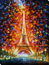 "Wall Art by Leonid Afremov ""Eiffel Tower, Paris"", All Canvas Art,All Subjects,Cityscapes,All Colors,All Shapes,All Artists,multi-color art,Portrait Shape,Leonid Afremov"