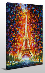 Wall Art  by Leonid Afremov  Eiffel Tower  Paris