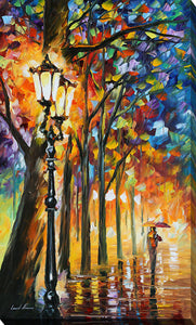 "Giclee Stretched Canvas Wall Art by Leonid Afremov ""The Soul Of The Park"", All Canvas Art,All Subjects,Landscapes,All Colors,All Shapes,All Artists,multi-color art,Portrait Shape,Leonid Afremov"