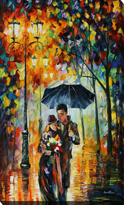 "Giclee Stretched Canvas Wall Art by Leonid Afremov ""Warm Night"", All Canvas Art,All Subjects,Figurative,All Colors,All Shapes,All Artists,multi-color art,Portrait Shape,Leonid Afremov"