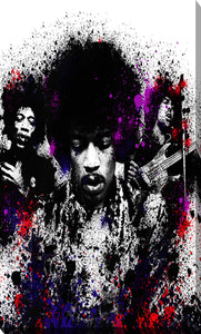 "Giclee Stretched Canvas Wall Art by Bekim Mehovic ""Hendrix I"", All Canvas Art,All Subjects,Celebrities,All Colors,All Shapes,All Artists,black art,Portrait Shape,Bekim Mehovic"