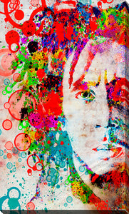 "Giclee Stretched Canvas Wall Art by Bekim Mehovic ""Marley IV"", All Canvas Art,All Subjects,Celebrities,All Colors,All Shapes,All Artists,multi-color art,Portrait Shape,Bekim Mehovic"
