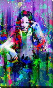 "Giclee Stretched Canvas Wall Art by Bekim Mehovic ""Marley XI"", All Canvas Art,All Subjects,Celebrities,All Colors,All Shapes,All Artists,purple art,Portrait Shape,Bekim Mehovic"